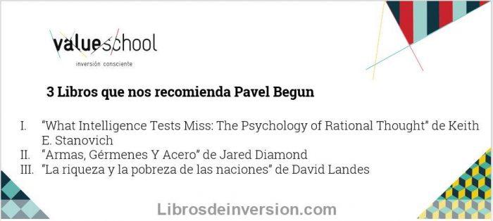 3 libros que recomendó Pavel Begun en la Value School